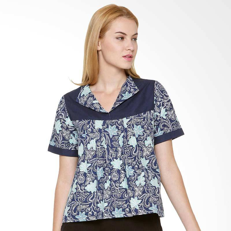 Djoemat Gembira A16-10-05 Women Bethari Top - Blue