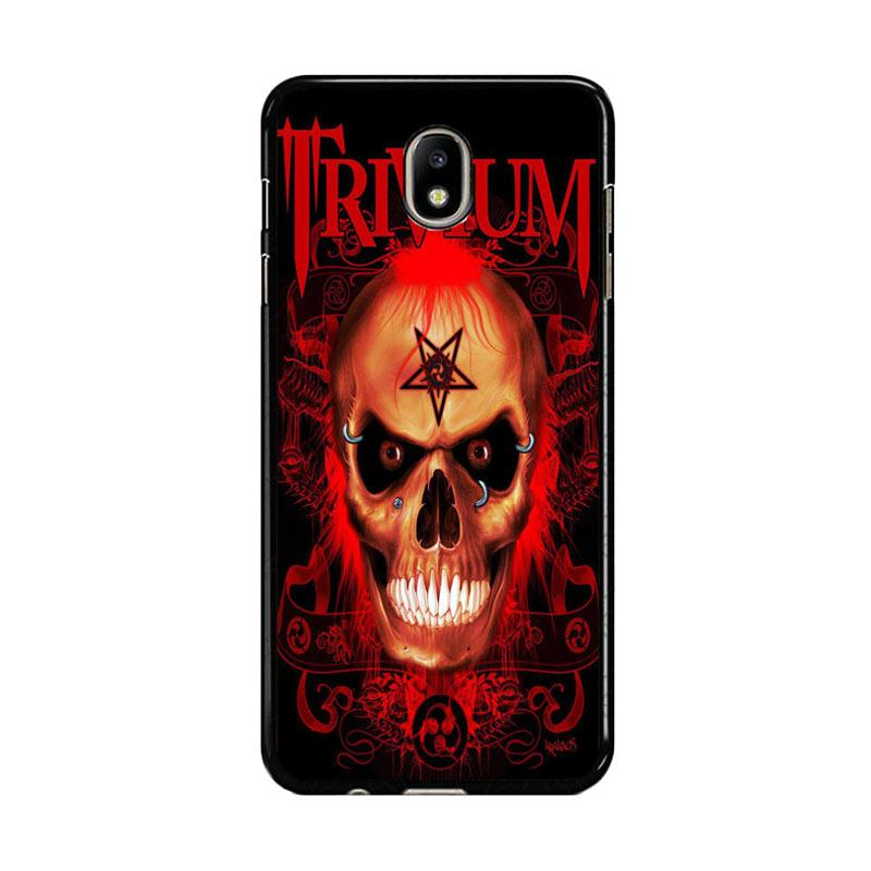 Flazzstore Trivium Red Skull Devil Black Metal Band Logo Z0765 Custom Casing for Samsung Galaxy J5 Pro 2017