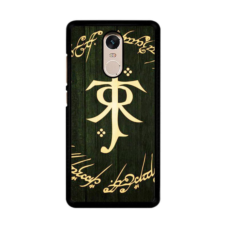 Flazzstore Lord Of The Ring Symbol Z1090 Custom Casing for Xiaomi Redmi Note 4 or Note 4X Snapdragon Mediatek