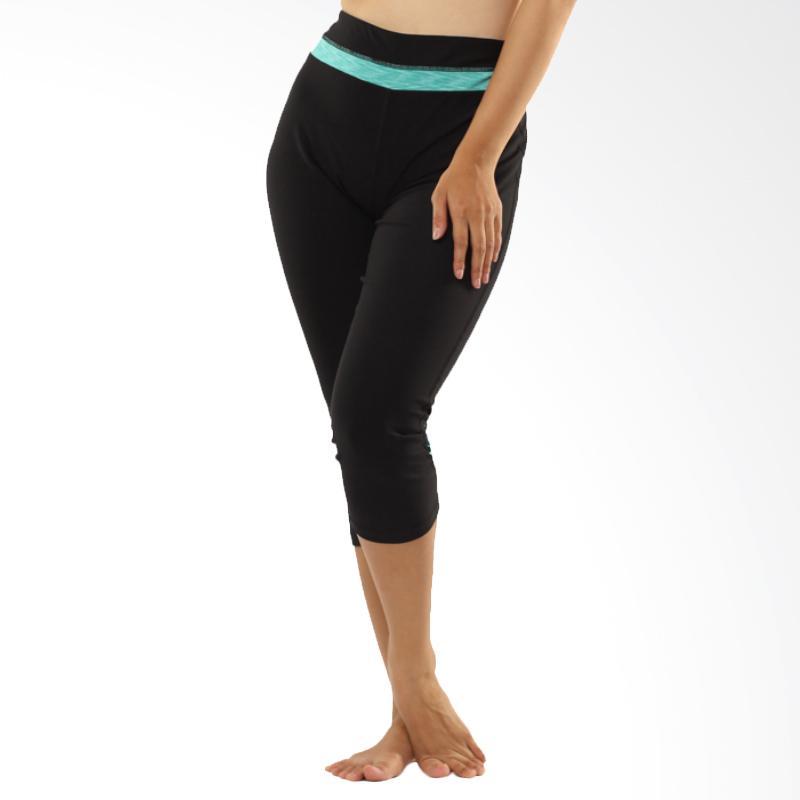 Active & Co Mesh Strip Mist Capri Celana Olahraga Wanita - Black [08ACC0002]