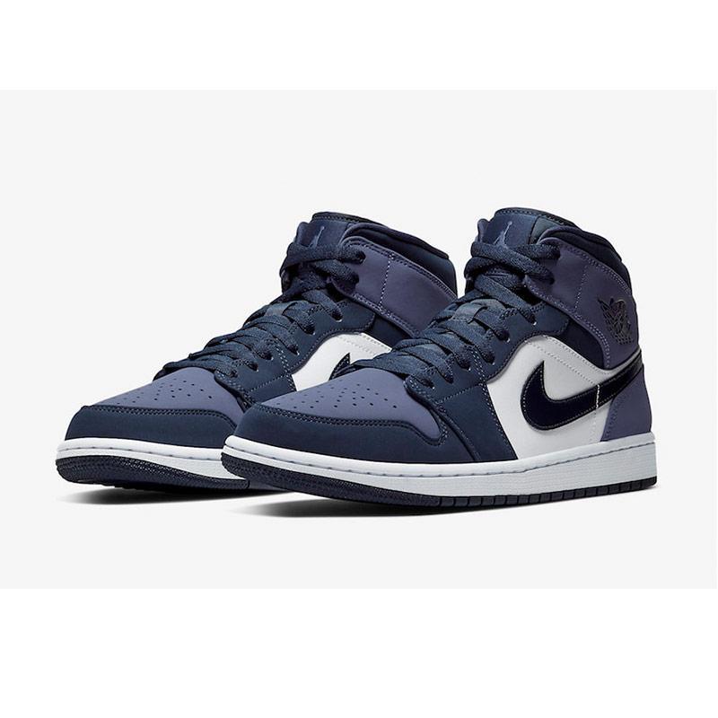 NIKE Men Basketball Air Jordan 1 Middle Sepatu Basket Pria