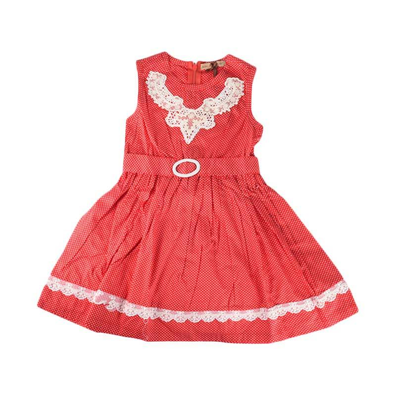Cabriole 101 Adel & Audrey Dress Anak - Red