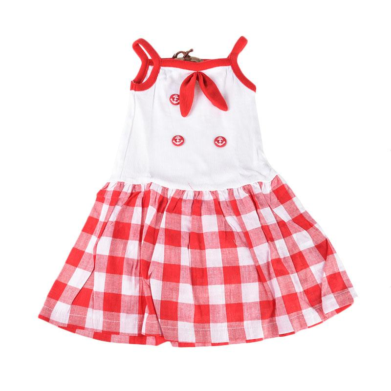 Cabriole 108-1 Adel & Audrey Dres Anak - White Red