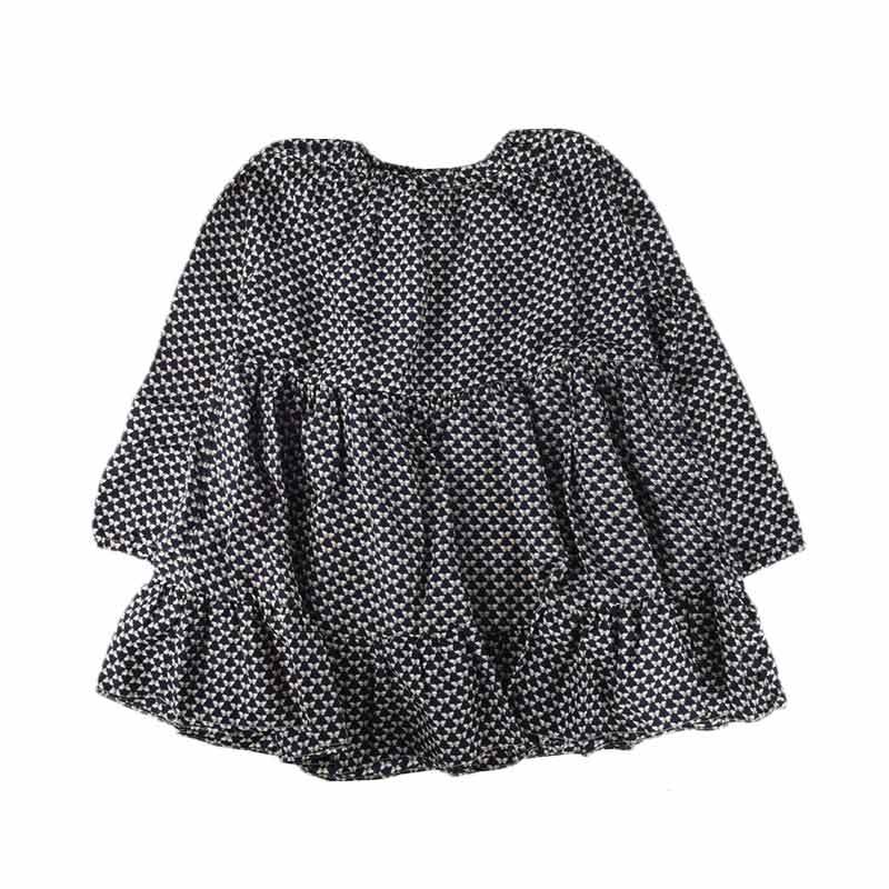 Cabriole 145- Adel & Audrey Long Sleeve Dress Anak - Black