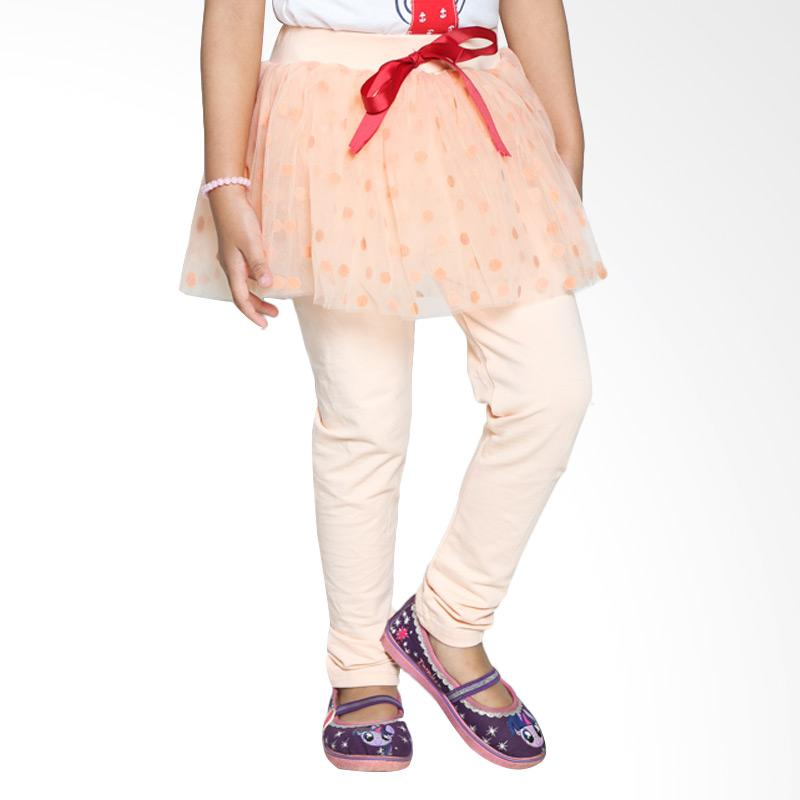 4 You Polkadot Long Pants - Peach