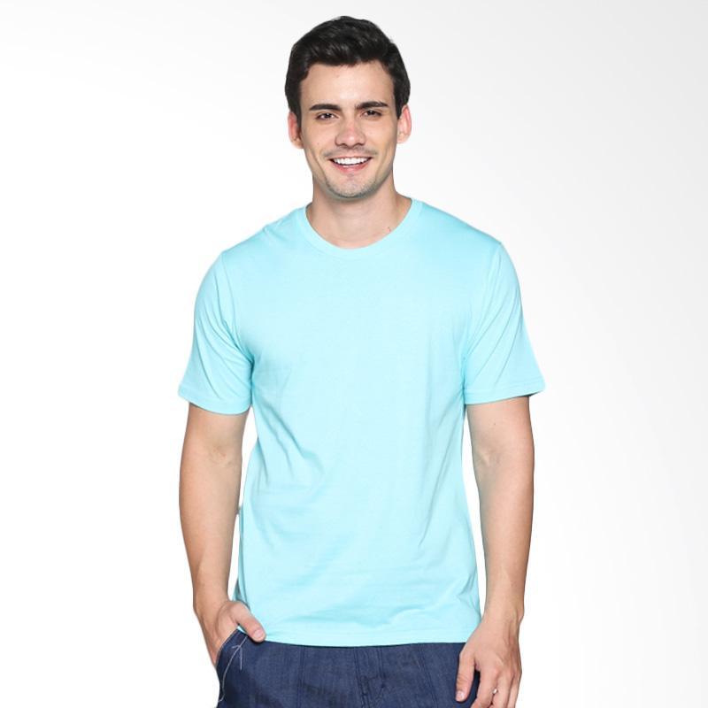 Katoen Id T Shirt Kaos Polos Pria Light Blue