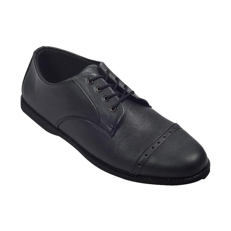 Giant Flames Fullblack Pantople Sepatu Formal Pria - Black