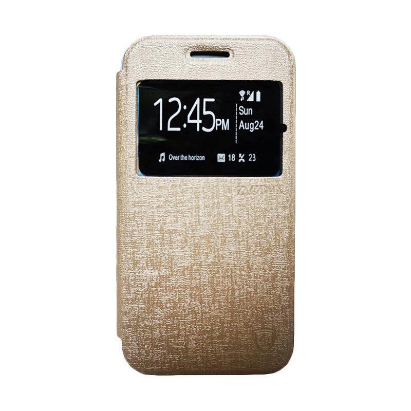 Zagbox Flip Cover Casing for Oppo F1 - Gold