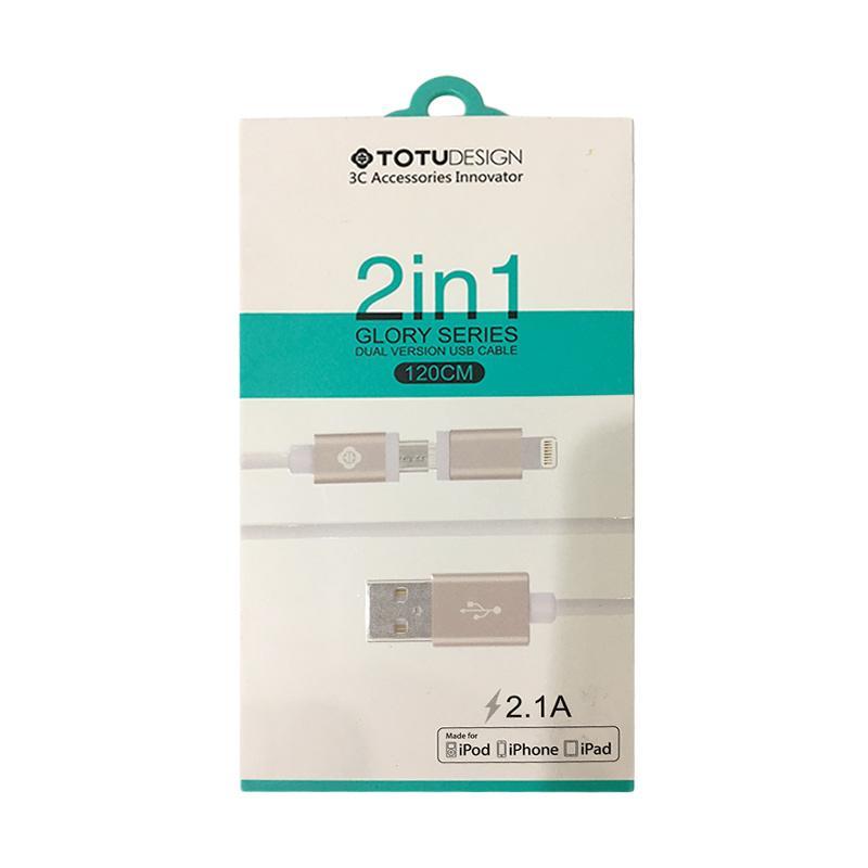 Totu Design 2 in 1 Data Cable - Gold