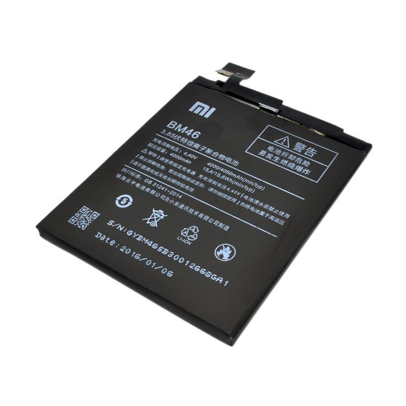 Xiaomi BM-46 Batery for Xiaomi Redmi Note 3 - Hitam [4000 mAh]