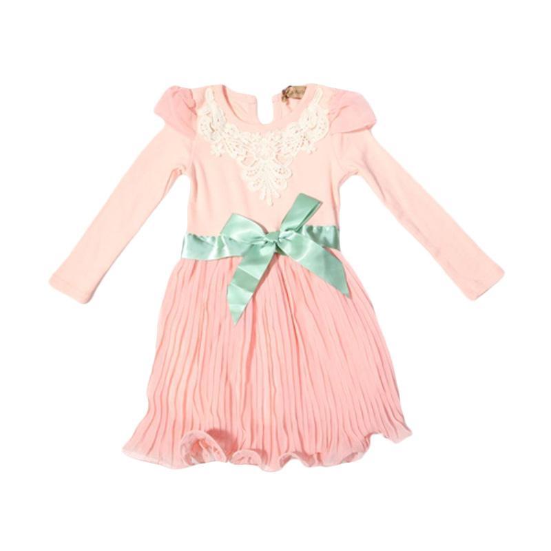 Adel & Audrey 110 Dress Anak - Pink