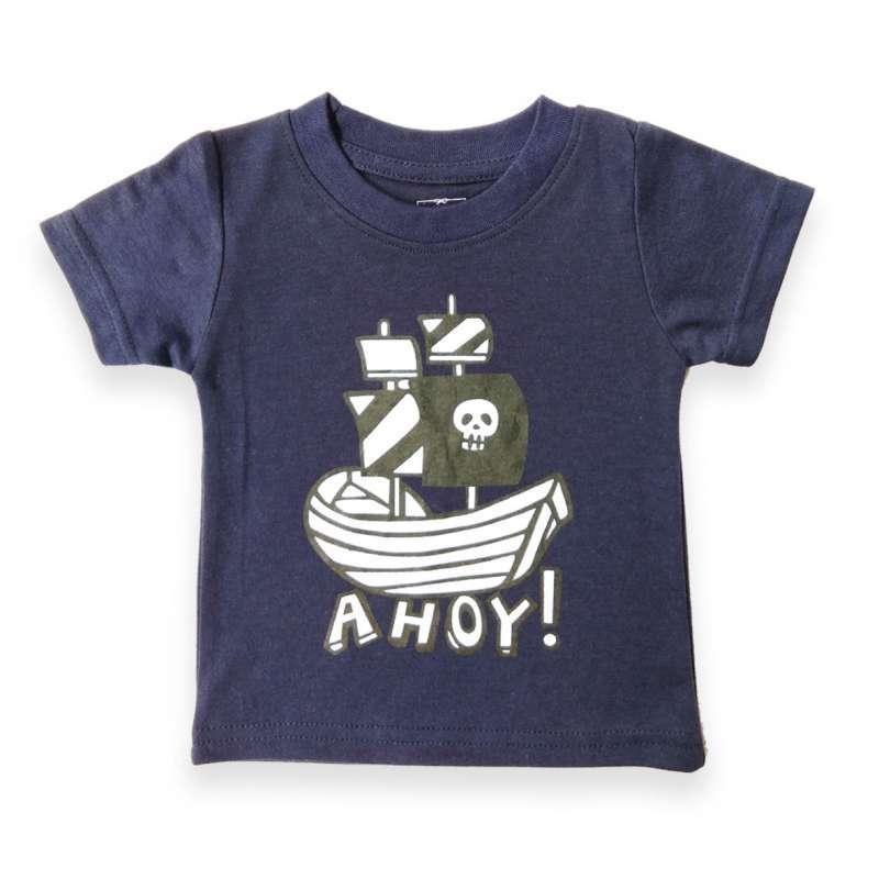 Little Agra La 8291 Boy Tshirt Tshirt Cowok Navy