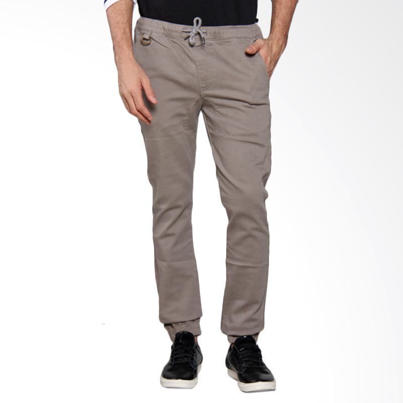 3SECOND MEN 2 Rib Sport Pants - Grey [107051713]