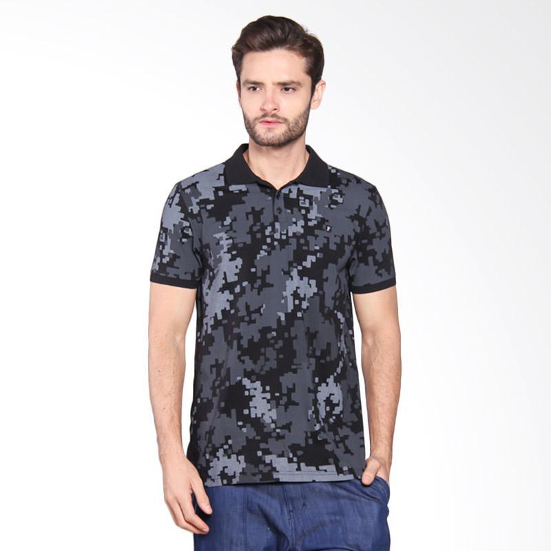 Famo Camo Casual Polo Shirt - Black [518051712]