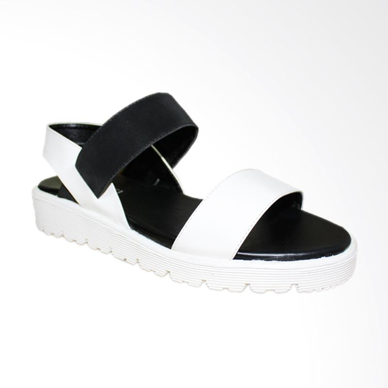 harga Garucci GGW 8045 Sandal Wedges - White Black Blibli.com