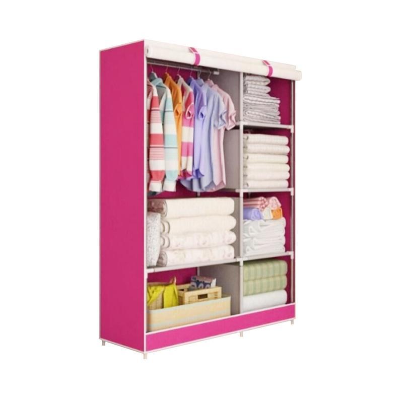 harga Weekend Deal - Radysa Organizer Lemari Pakaian Portable - Pink Tree [2 Layer] Blibli.com