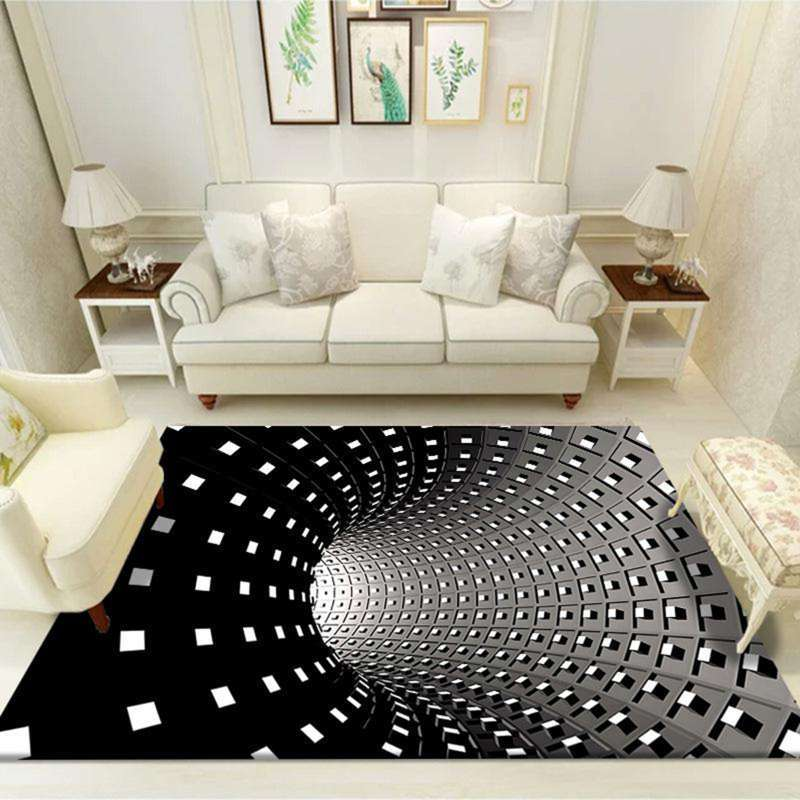 3d Illusion Rug Indoor Area Rugs Living, Carpet For Living Room