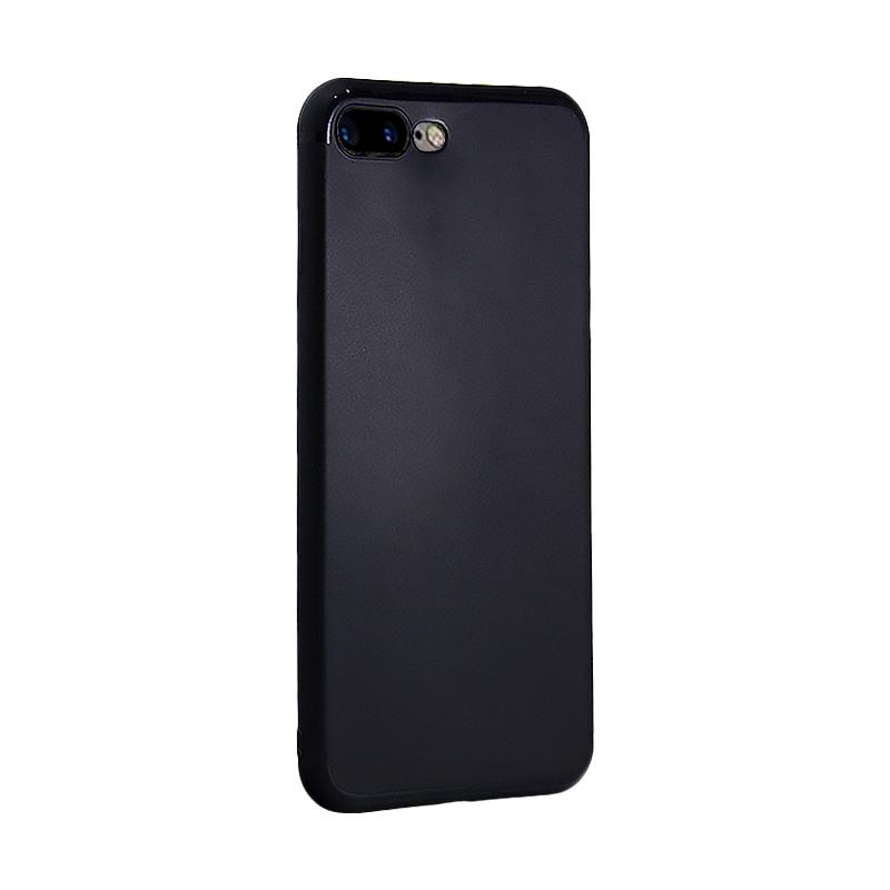 Fashion Premium Slim Silicone Casing for iPhone 7 Plus - Black