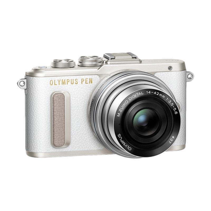 Olympus E-PL8 14-42mm EZ Kamera Mirrorless - White Silver with Lens M 17 mm F/1.8