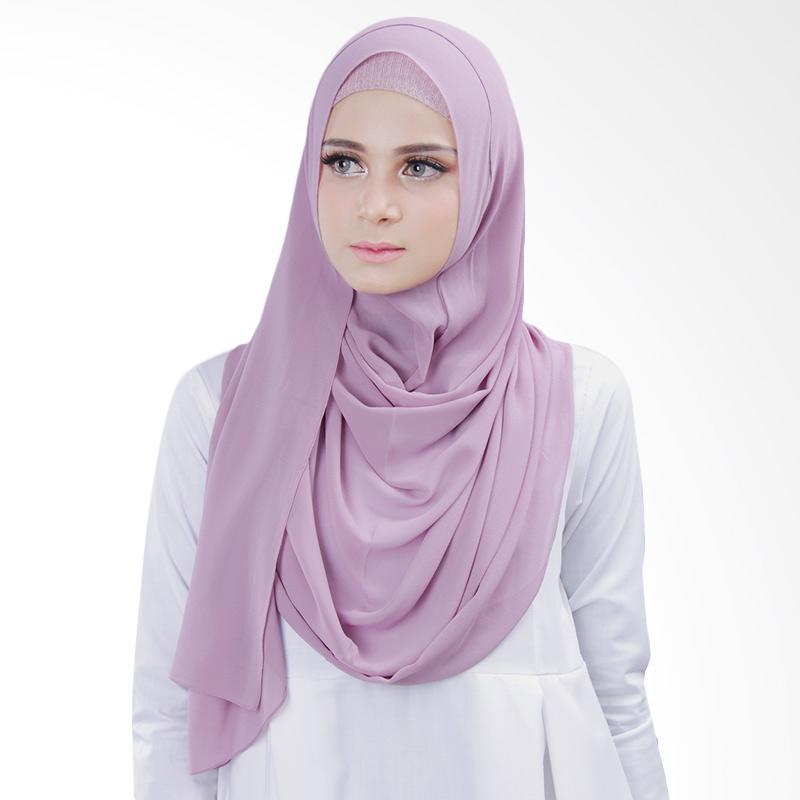 Cantik kerudung Bella Slip In Hijab Instant - Dusty Purple No.3