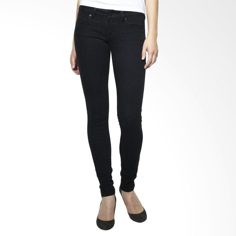 Underpego Skinny Plain Celana Jeans Wanita - Black
