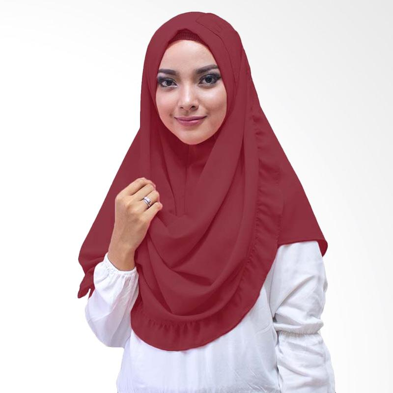 Milyarda Hijab Oshi Hijab Instan - Maroon