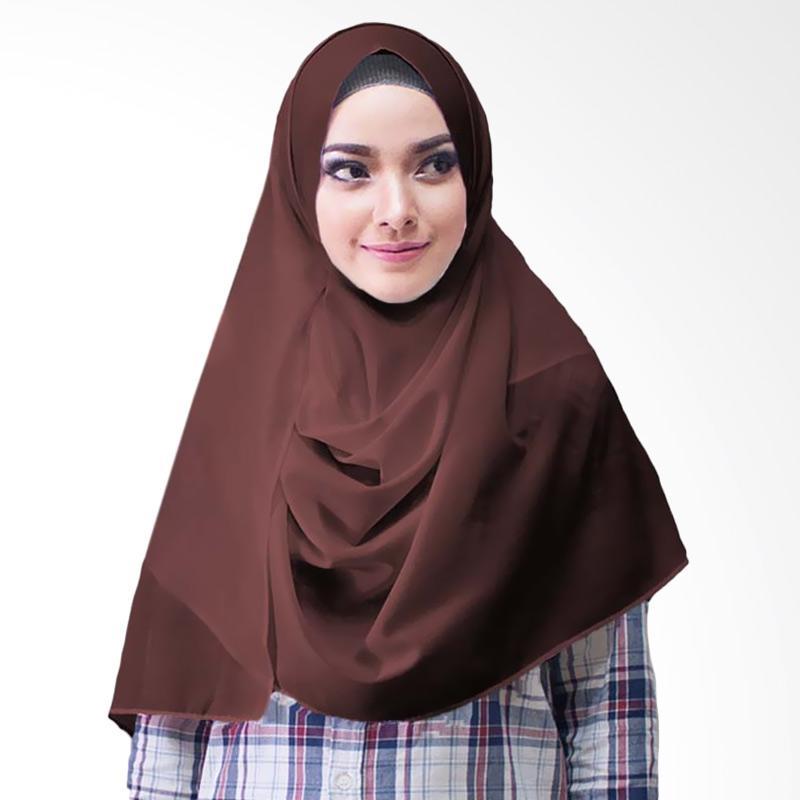Milyarda Hijab Paloma Diamond Hijab Instan - Coklat
