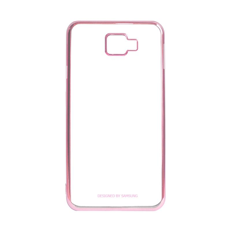 Samsung Shining List Chrome Casing for Galaxy A5 2016 A510 - Rose Gold