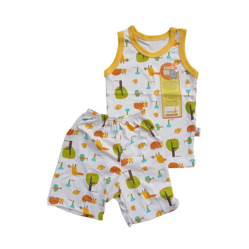 Velvet Junior Motif Tucano Sleeveless Setelan Baju Tidur Anak - Yellow