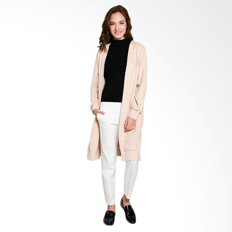 Papercut Fashion GZ 02 Shan Yue 9020 Basic Long Outerwear Wanita - Peach