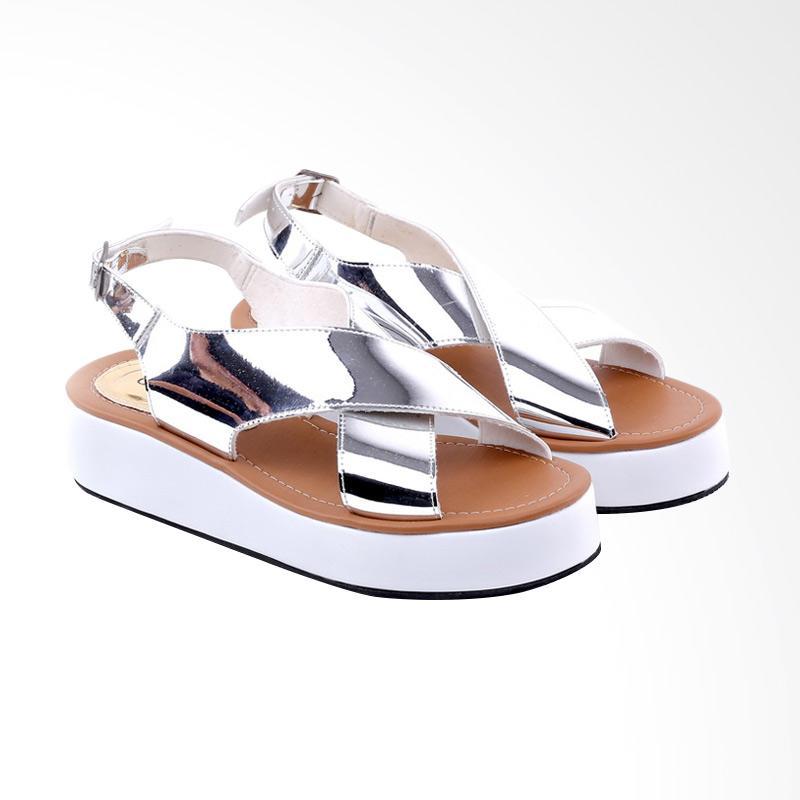 Garucci GOK 5185 Flats Sandal Wanita - Silver