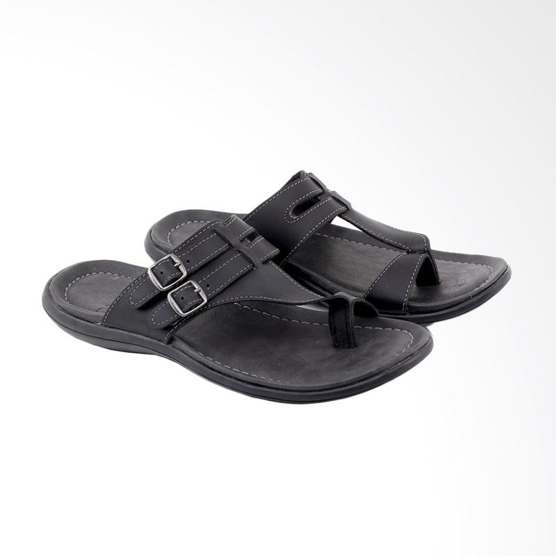Garucci Sandal Pria - Black GHU 3106