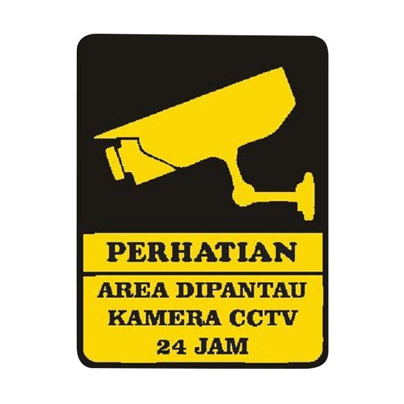 OEM Sign Keamanan CCTV Hotel Restoran Kantor Tempat Belanja Sticker