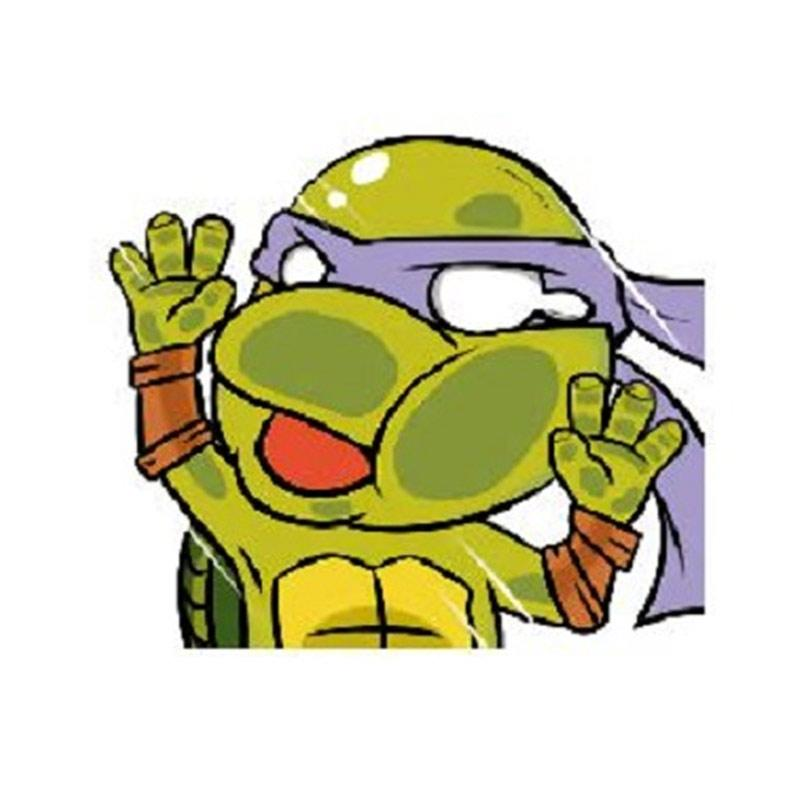 OEM Kura Kura Ninja Turtle Hit the Glass Stiker Tabrak Sticker / Mobil/ Laptop