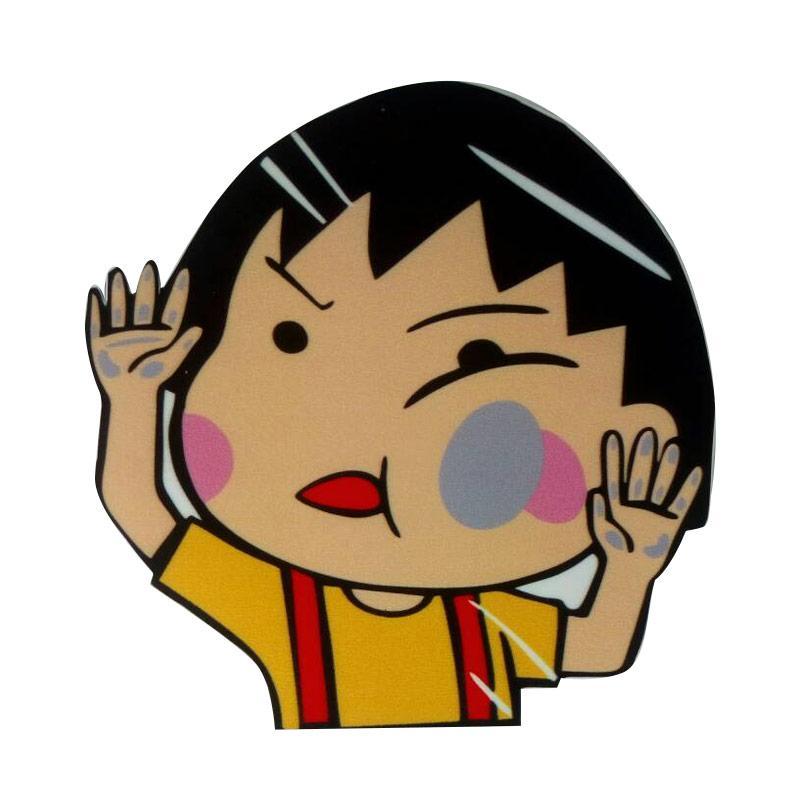 OEM Aksesoris Mobil Stiker Chibi Maruko Tabrak Kaca Hit the Glass Sticker Mobil