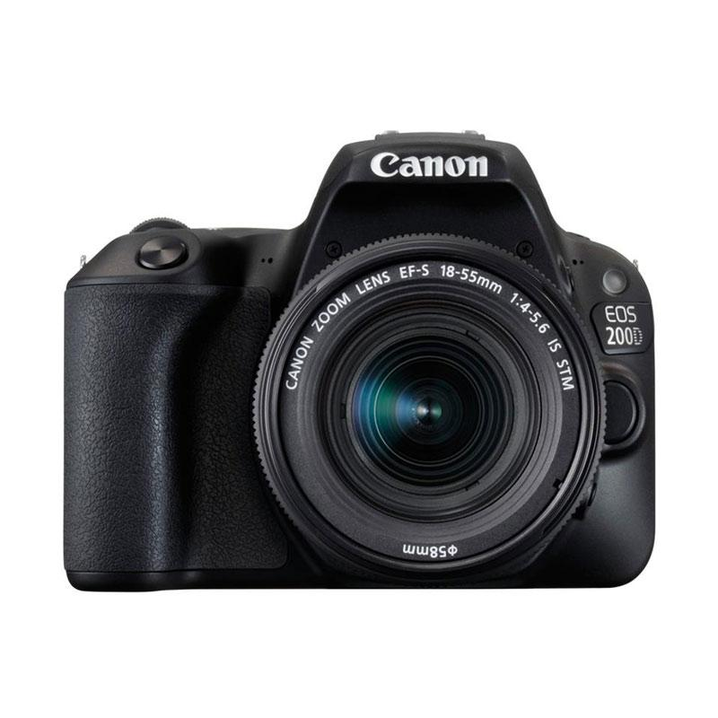 harga Canon EOS 200D Kit EF-S 18-55mm IS STM Kamera DSLR - Black ( Free Screenguard Terpasang ) Ladang Elektronik | Garansi RESMI Blibli.com