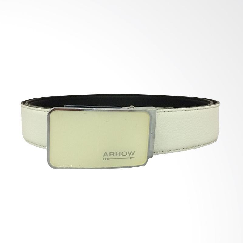 Arrow Leather Belt Ikat Pinggang Pria - White [125 cm] BP-AR2260FCSA15-B30177004