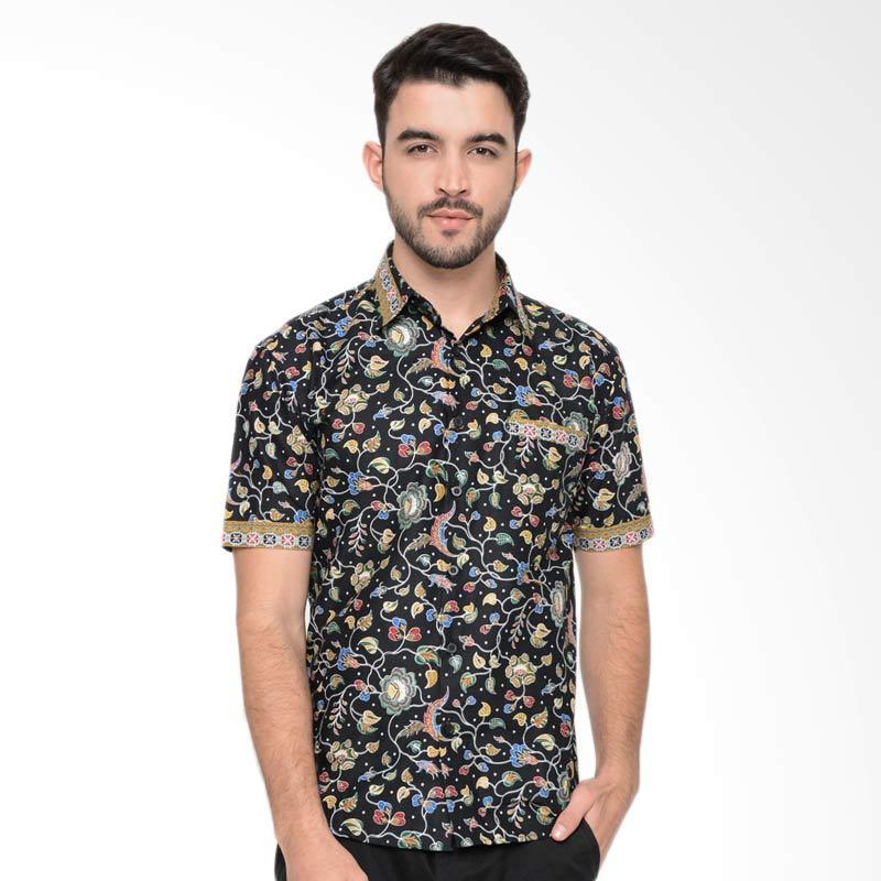 Enzy Batik Sembadra Shirt -Black