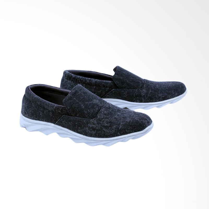 Garsel Sepatu Slip On Kasual Pria - Grey GCM 1007