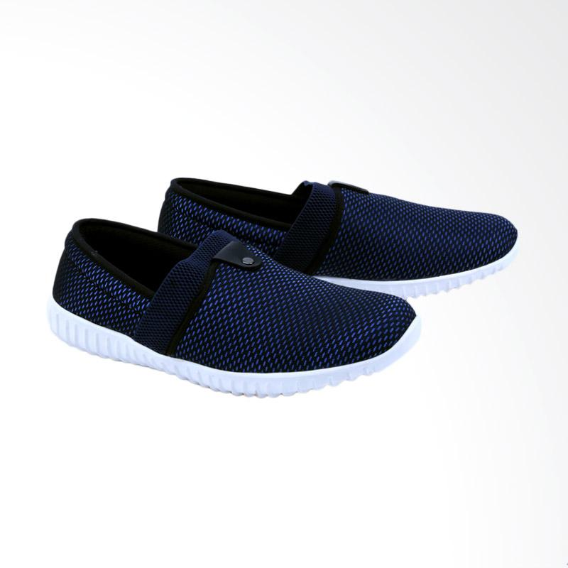 Garsel Sepatu Slip On Kasual Pria - Biru GAP 1002