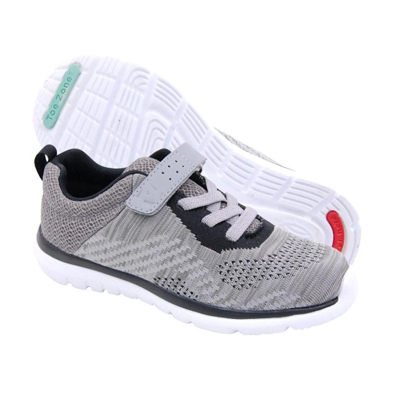 Toezone Kids Terra Yt Sepatu Anak Laki - Grey Black