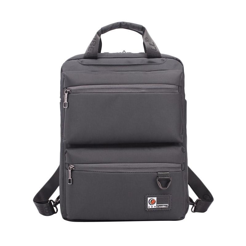 harga CoolBell CB-3668 Original Tas Laptop with Baggage Belt Day Pack Multi-functional - Grey [14.6 Inch/Waterproof] Blibli.com