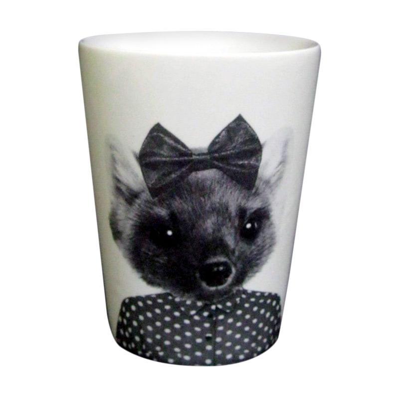 Sango Gambar Hewan Kucing Keramik Gelas Tumbler [350 mL]