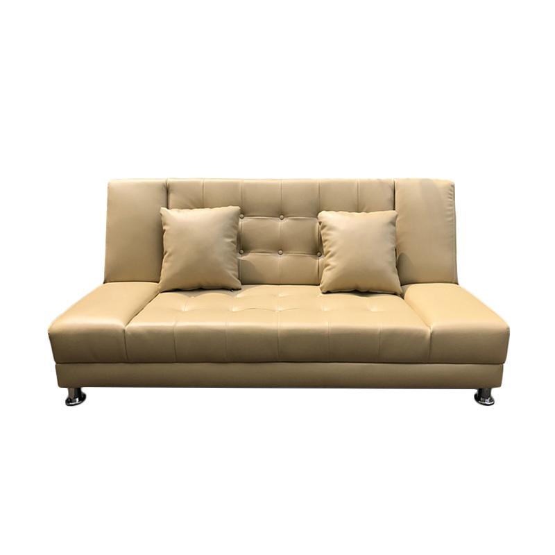 Best Furniture Jelly Sofabed Sofa Ranjang - Krem [Khusus Jabodetabek]