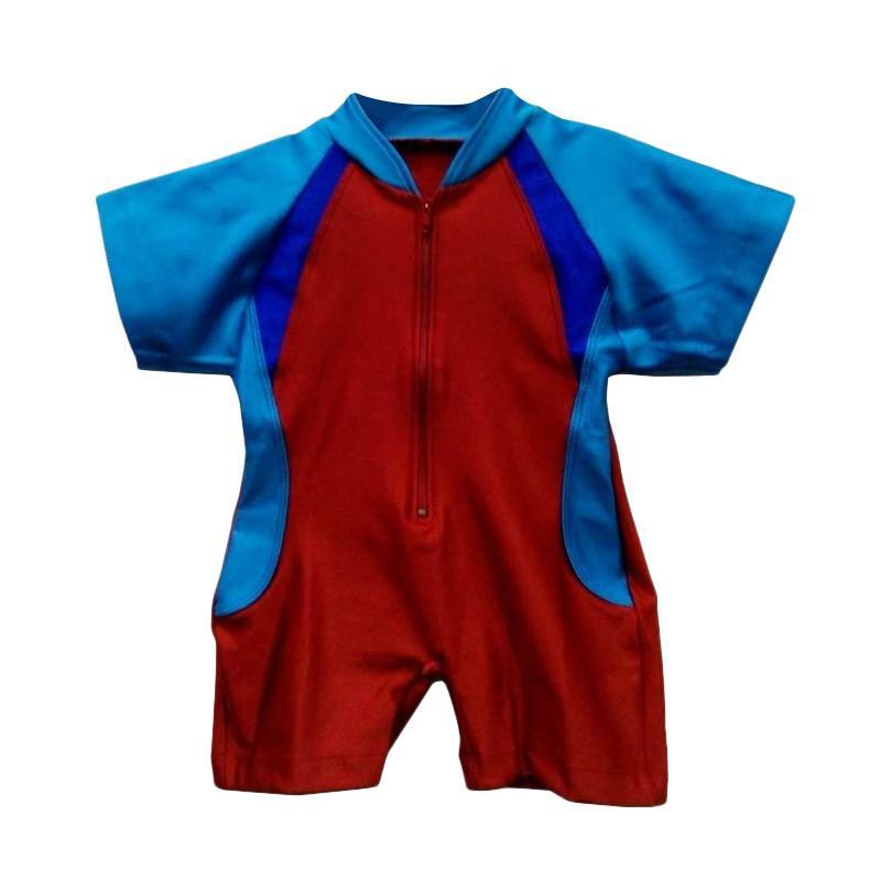 STB Kids Model Diving Baju Renang Bayi Laki Laki - Merah Biru