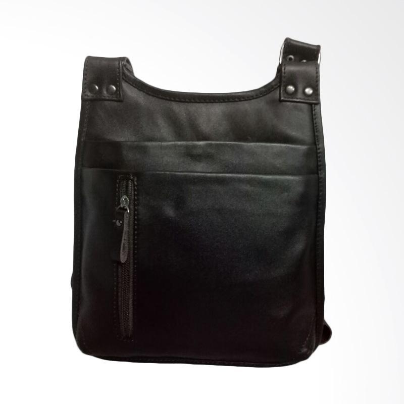 Hunter Design Tas Selempang Pria - Dark Brown [011171]