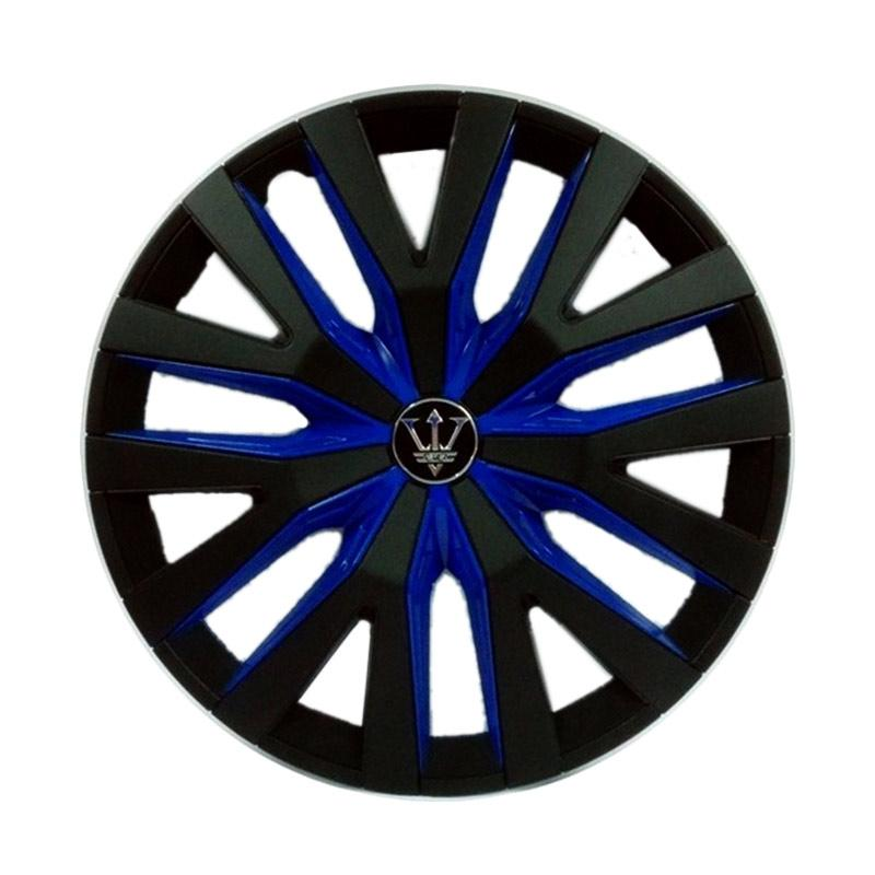 SIV WD1-1BL-14 Inch Sport Wheel Cover Evolution Design Dop Roda Mobil - Black Blue