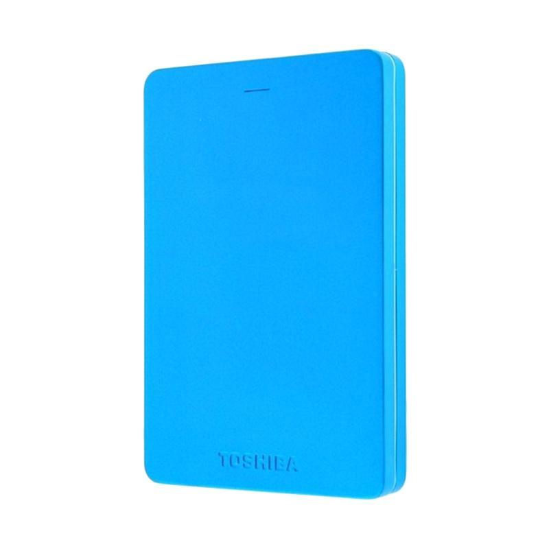 Toshiba Canvio Alumy Metal Body Harddisk Eksternal - Metallic Blue [1 TB/ USB 3.0]