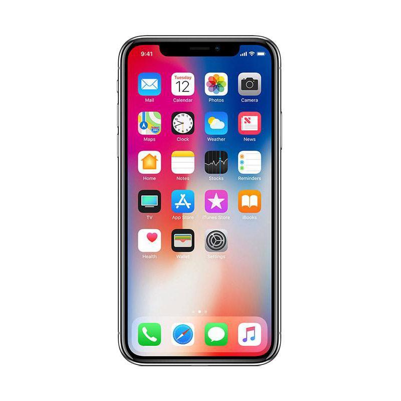 Apple iPhone X 256 GB Smartphone - Silver [Garansi Resmi TAM]