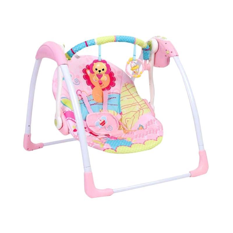 harga Mastela 6519 Deluxe Portable Swing Ayunan Bayi - Pink Blibli.com